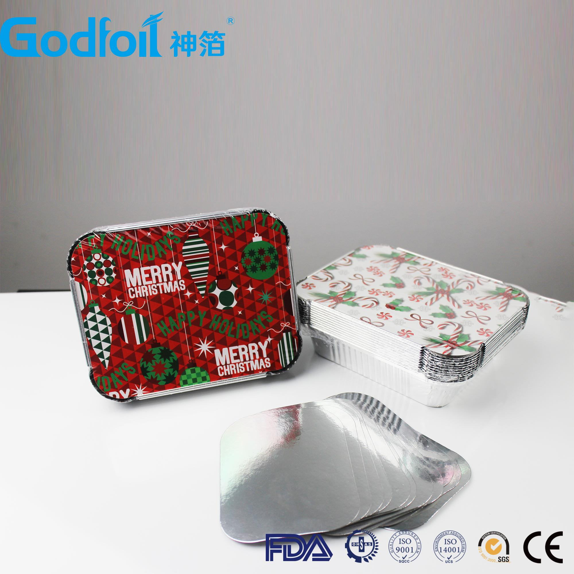 China made Embossed Die Cut Piece Aluminum Foil Lid