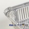 Disposable Aluminum Foil Container 8389 Food Packaging Take Away Container 750ml