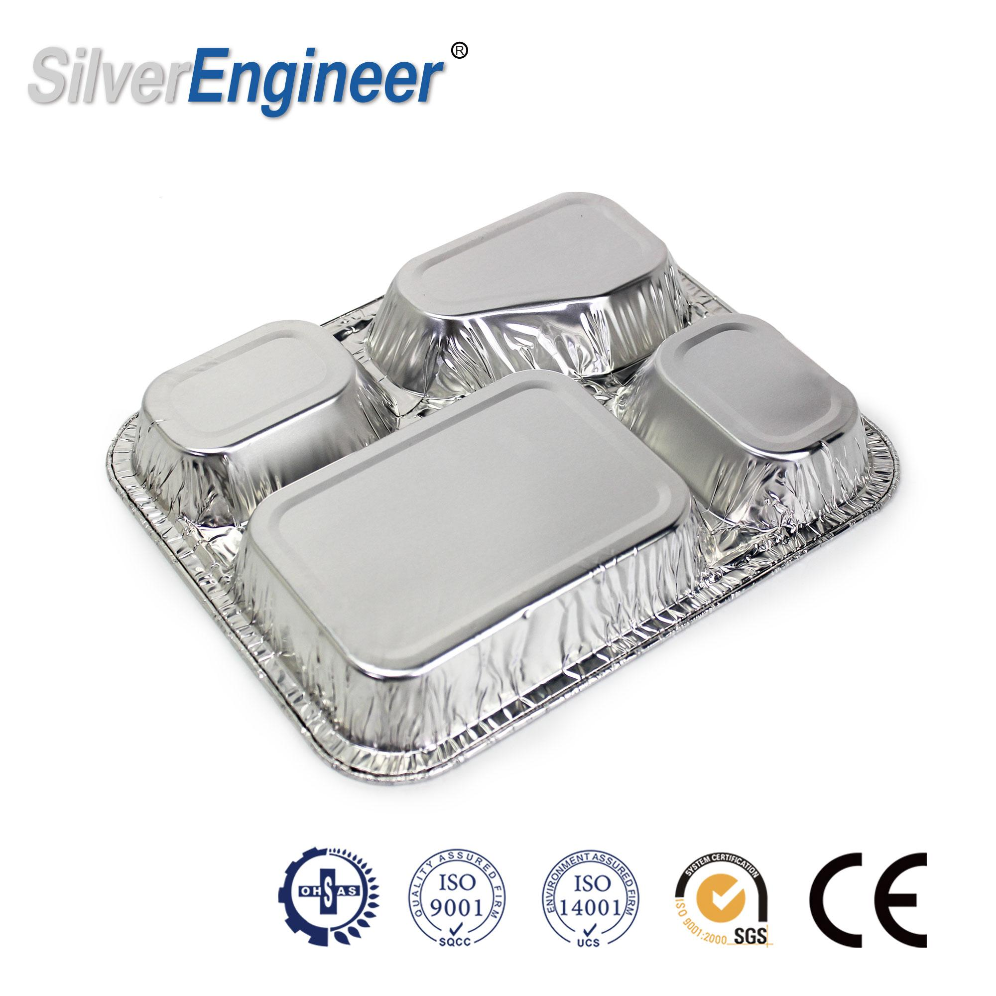 铝箔餐盒模具,4格模具 1