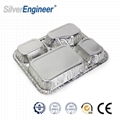 Aluminum foil dining box mold, 4 grids mold