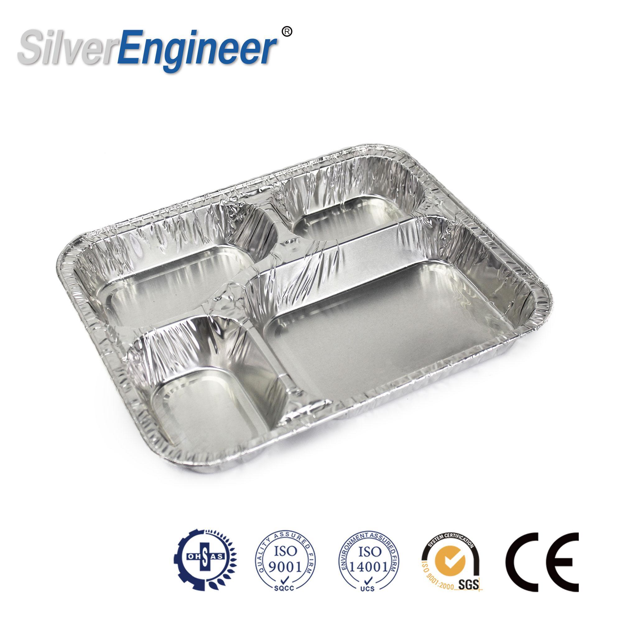 铝箔餐盒模具,4格模具 3