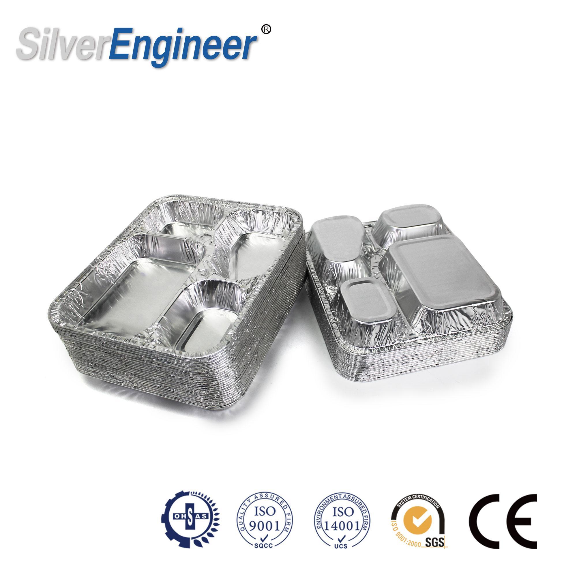 铝箔餐盒模具,4格模具 6