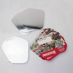 铝箔餐盒纸盖  铝箔餐盒塑料盖 覆膜纸盖