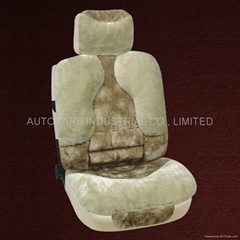 Fur car seat cushion
