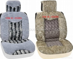 Fur seat cushion
