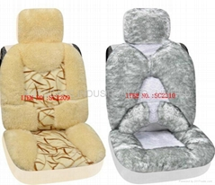 Plush car seat cushion