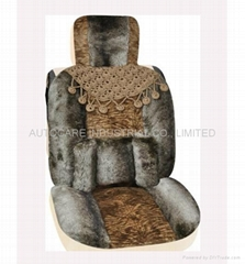 Soft fur seat cushion