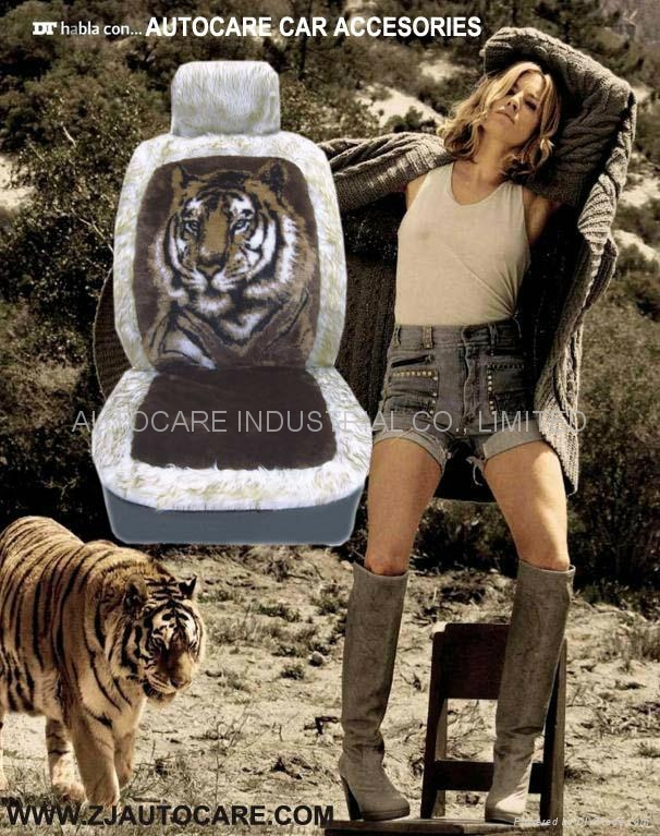 2020 SHEEP SKIN CAR CEAT COVER TIGER