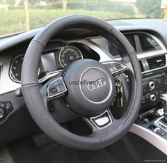 2015 new design genuine leather steering wheel cover