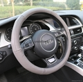 2018 new design genuine leather steering wheel cover 8