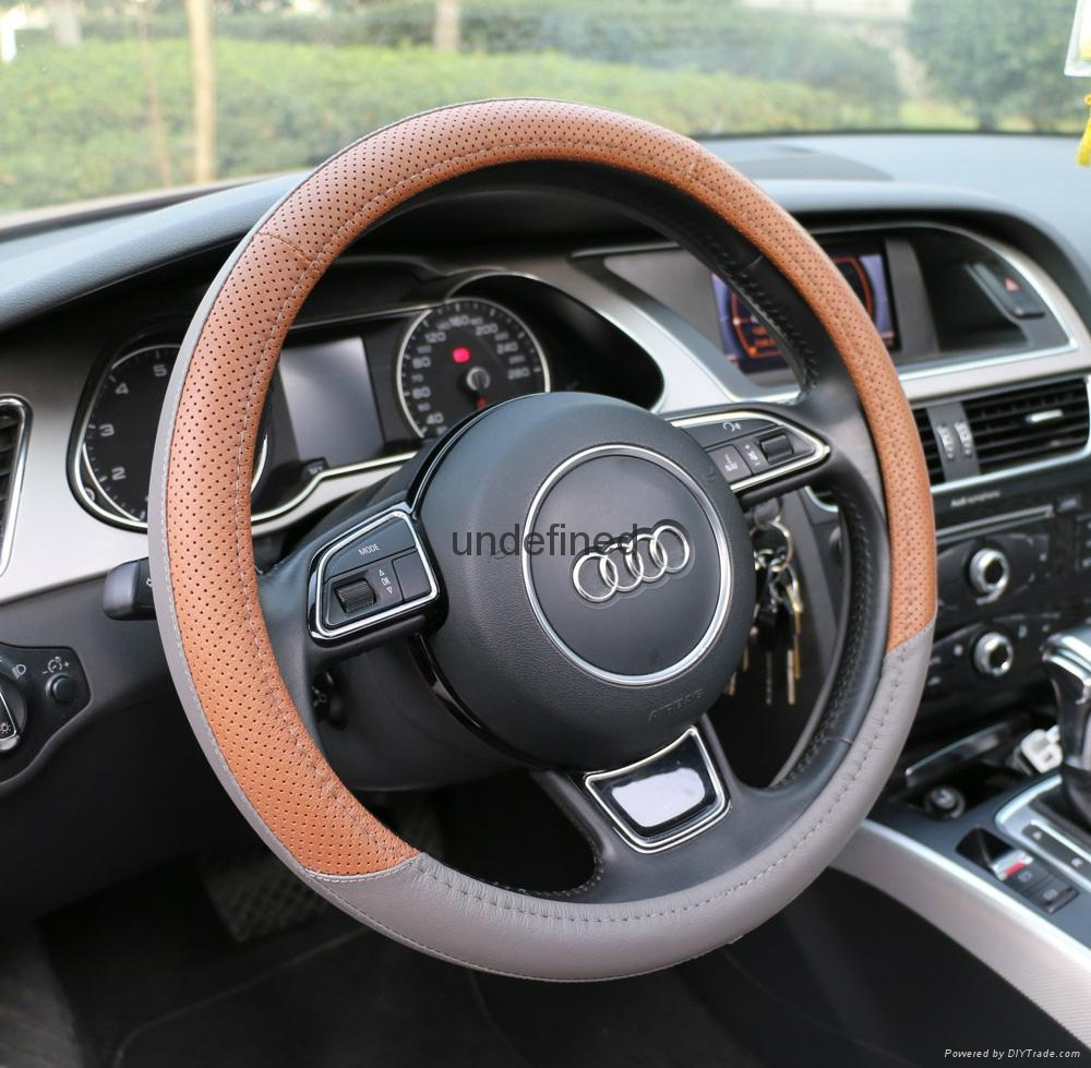 2018 new design genuine leather steering wheel cover 10