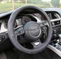 2016 genuine leather car steering wheel cover