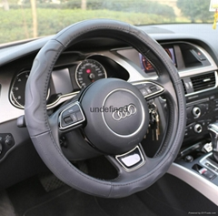 2018 new fashion design leather steering wheel cover