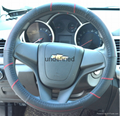 2018 new fashion design leather steering wheel cover 7