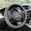 2018 new fashion design leather steering wheel cover 12