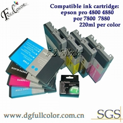 Compatible Pigment ink cartridge with chip for Pro 7800,PRO 9800