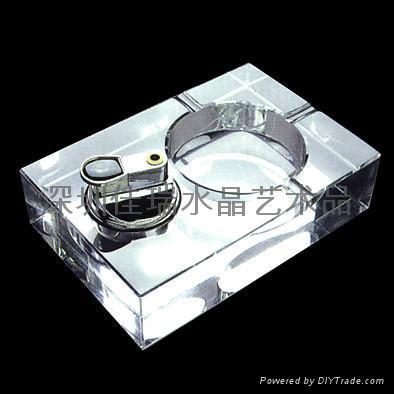 定做水晶烟灰缸 3
