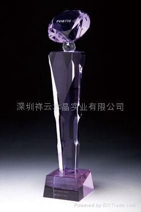 水晶奖杯制作,水晶工艺品定做 1