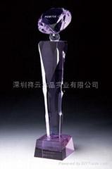 水晶奖杯制作,水晶工艺品定做