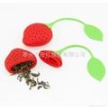 草莓硅胶泡茶器
