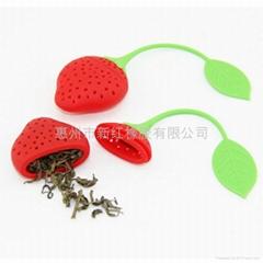 草莓硅膠泡茶器