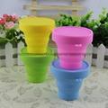 户外运动便携硅胶折叠杯 可伸缩折叠水杯 漱口饮水硅胶折叠杯 4