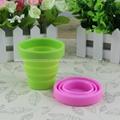 户外运动便携硅胶折叠杯 可伸缩折叠水杯 漱口饮水硅胶折叠杯 5