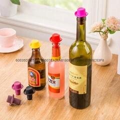 食品级硅胶小礼帽保鲜酒瓶塞 红酒塞子 啤酒调味瓶瓶塞