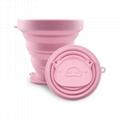 250ml硅胶卡通小猪杯底折叠杯 伸缩收纳户外运动便携硅胶水杯 1