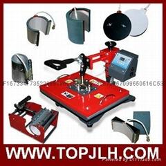 Hot sale CE tested 8 in 1 combo heat transfer press machine