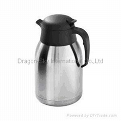 stainless steel vacuum coffee and tea pot