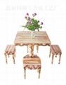 瑪瑙紅小方桌 1