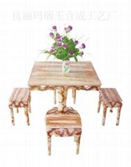 瑪瑙紅小方桌