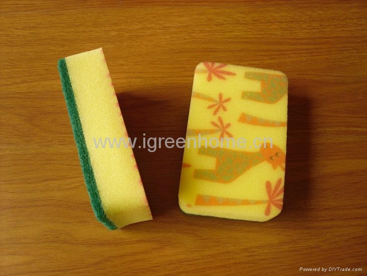 kitchen sponge with pattern 3