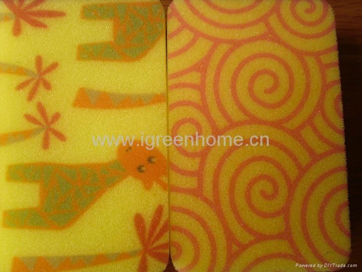kitchen sponge with pattern 4