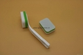 glass cleaning brush with towel