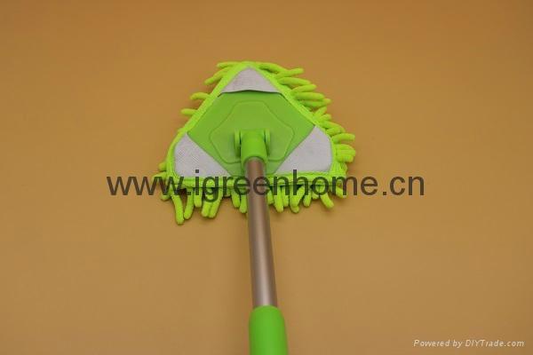 corner cleaning microfiber adjustable AL handle mop 1