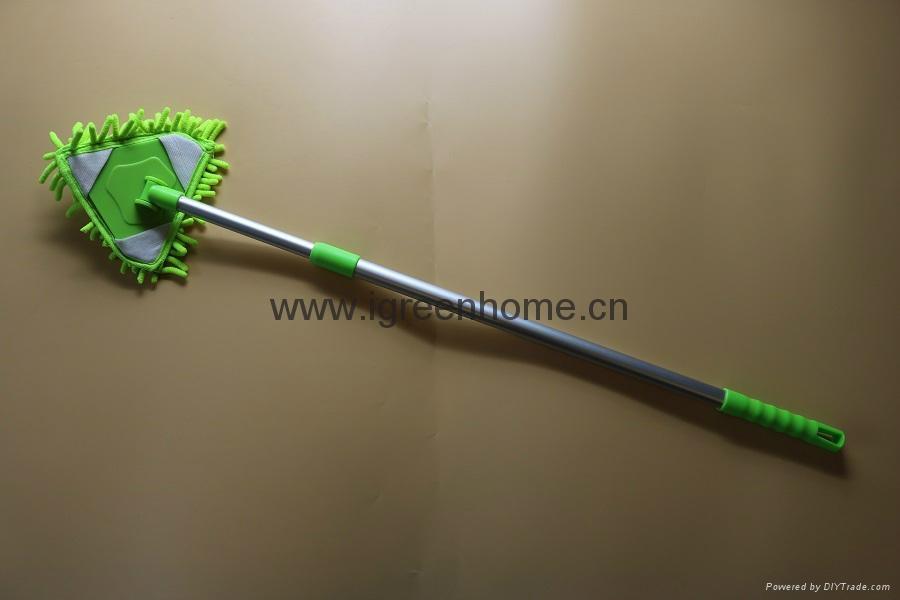 corner cleaning microfiber adjustable AL handle mop 4