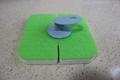 melamine sponge pad with holder