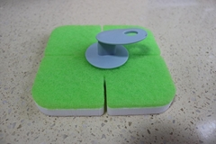 melamine sponge pad with holder