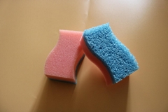 new dish sponge become soft meeting hot water