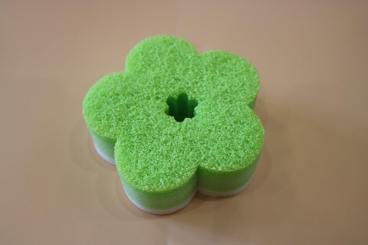 new soft flower sponge scourer 1