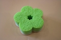 new soft flower sponge scourer
