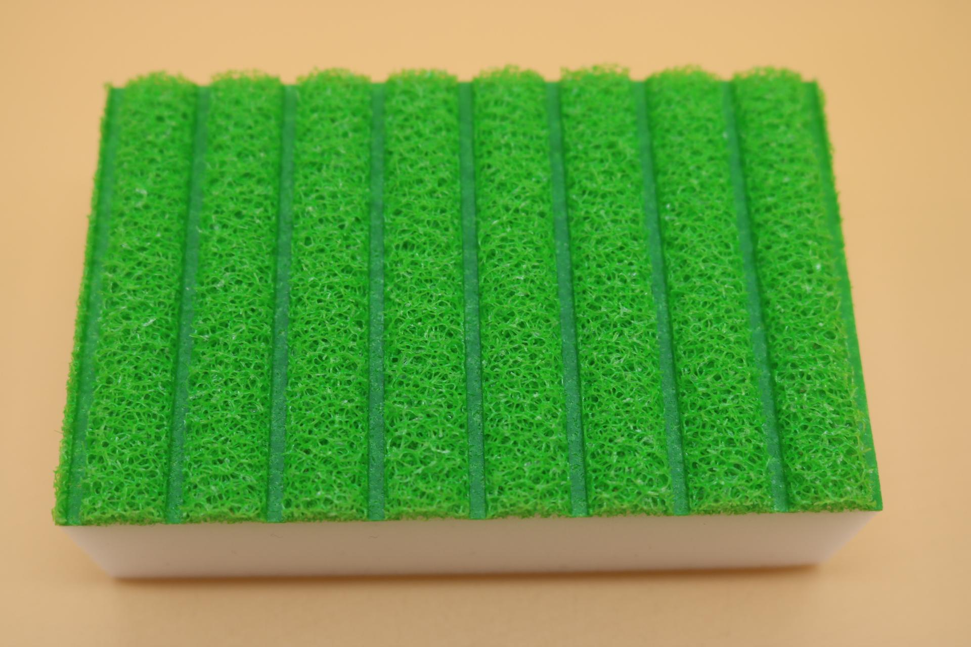 melamine sponge back with stripe sponge