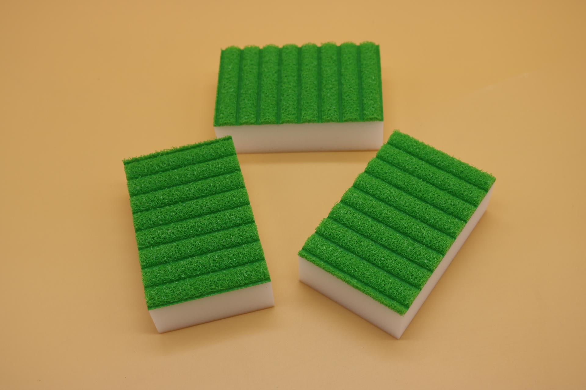 melamine sponge back with stripe sponge 2