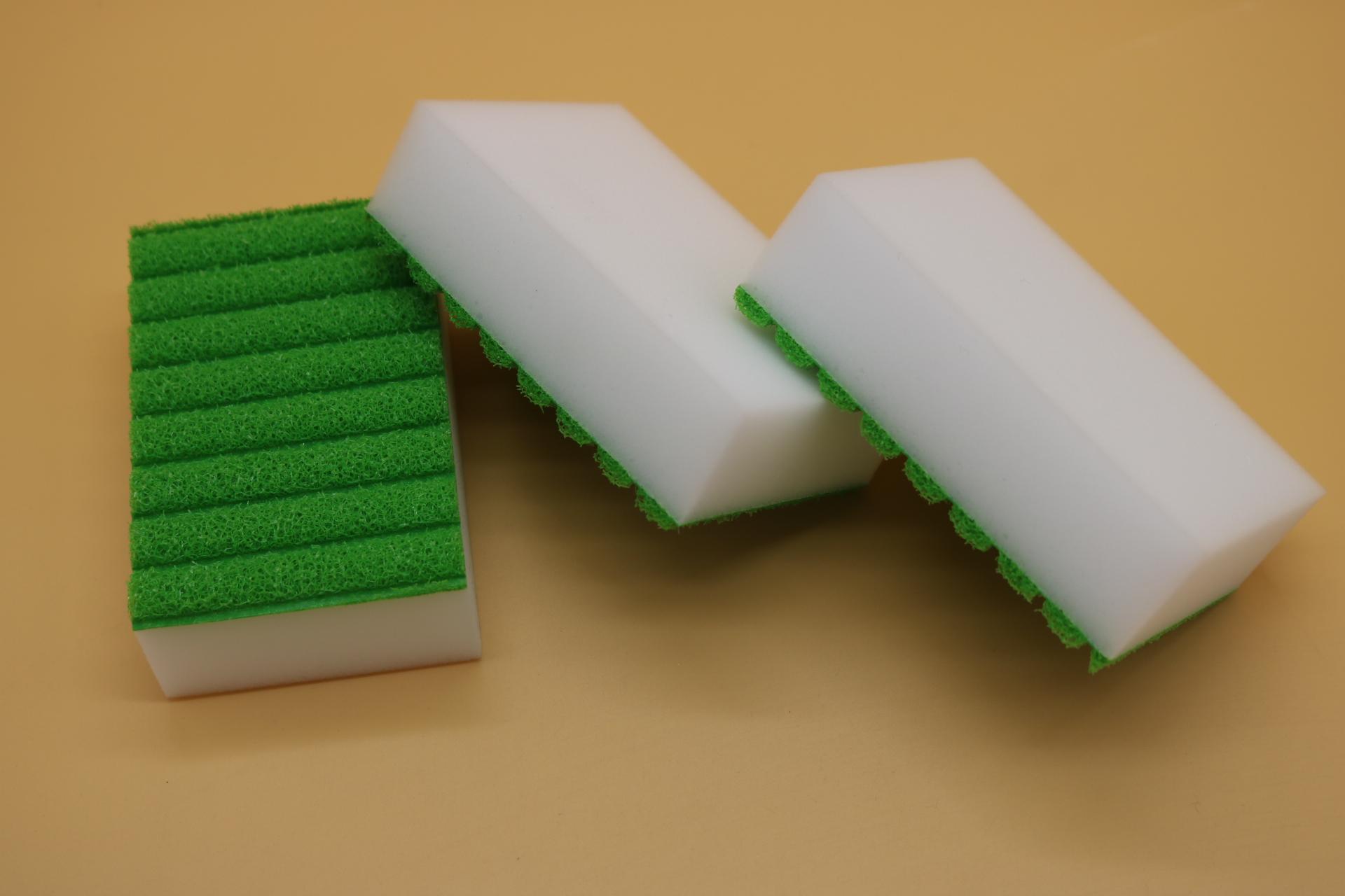 melamine sponge back with stripe sponge 3