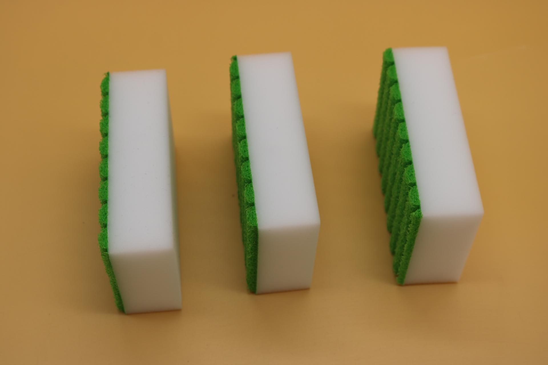 melamine sponge back with stripe sponge 4