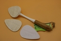 loofah kitchen brush with bamboo pipe handle 2
