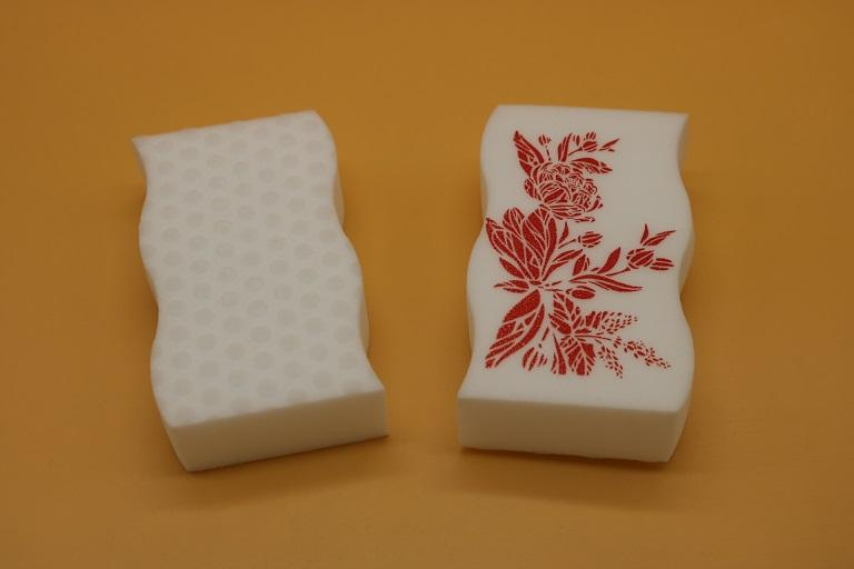 magic eraser sponge with printings 1