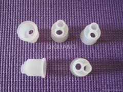 Silicone rubber plugs